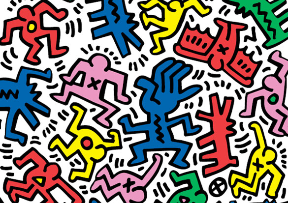 Keith Haring Decal Movement Wall Tile | Art Markit